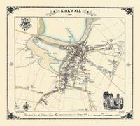 Kirkwall 1880 Map - Heritage Cartography Victorian Town Map Series (Sheet map, folded)