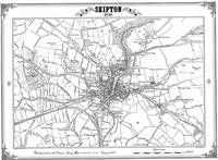Skipton 1849 Map - Heritage Cartography Victorian Town Map Series (Sheet map, folded)