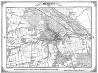 Hexham 1860 Map - Heritage Cartography Victorian Town Map Series (Sheet map, folded)
