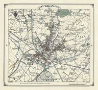 Wigan 1845 Map - Heritage Cartography Victorian Town Map Series (Sheet map, folded)