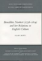 Benedikte Naubert (1756-1819) and Her Relations to English Culture (Paperback)