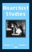 Anarchist Studies: No. 16.1 (Paperback)