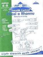 Cyfres Help Gyda'r Gwaith Cartref/ Help with Homework Series: Lluosi a Rhannu/ Multiplying and Dividing (Paperback)