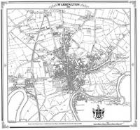 Map of Warrington 1844 - Heritage Cartography Victorian Town Map Series No. 117 (Sheet map, folded)