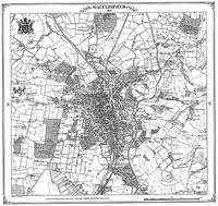 Macclesfield 1870 Map - Heritage Cartography Victorian Town Map Series 184 (Sheet map, folded)