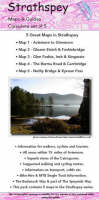 Strathspey Set of Maps and Guides: Biking (MTB) and Hiking Routes (Sheet map, folded)