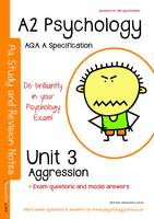 A2 Psychology Unit 3: Topics in Psychology: Aggression: AQA  a Specification (Paperback)