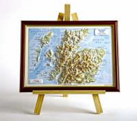 Scotland North Raised Relief Map