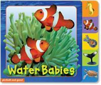 Animal Tabs: Water Babies - Animal Tabs (Board book)