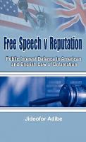Free Speech V Reputation