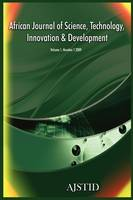 African Journal of Science, Technology, Innovation and Development (Volume 1 Number 1 2009) (Paperback)