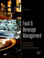 Food and Beverage Management: For the hospitality, tourism and event industries (Paperback)