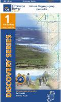 Donegal (NW) - Irish Discovery Series Sheet 1 (Sheet map, folded)