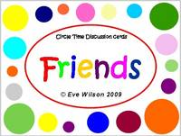 Circle Time Discussion Cards - Friends