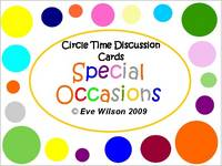 Circle Time Discussion Cards - Special Occasions