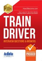 Train Driver Interview Questions and Answers: Sample Questions for the Trainee Train Driver Criteria Based and Manager's Interviews - Testing Series (Paperback)