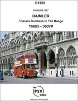 Chassis List - Daimler (Chassis Numbers in the Range 16685-36370): C1202 (Paperback)