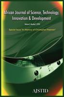 African Journal of Science, Technology, Innovation and Development (Paperback)