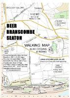 Beer Branscombe Seaton Walking Map - walking map 43 (Sheet map, folded)