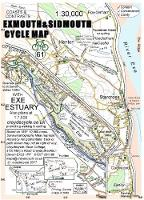 Exmouth & Sidmouth Cycle Map (Sheet map, folded)