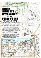 Lynton Lynmouth Alternative with Hunter's Inn Walking Map - walking map 54 (Sheet map, folded)