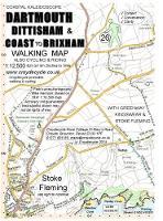 Dartmouth, Dittisham & Coast to Brixham Walking Map: With Greenway, Kingswear & Stoke Fleming - walking map 26 (Sheet map, folded)