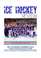Ice Hockey Review UK Hockey Yearbook 2018
