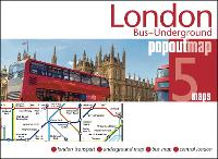 London Bus and Underground PopOut Map - PopOut Maps (Sheet map, folded)