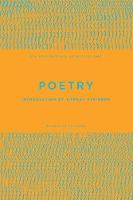 UEA Creative Writing Anthology Poetry 2018