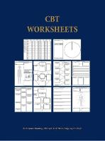 CBT Worksheets: CBT Worksheets for CBT Therapists in Training: Formulation Worksheets, Padesky Hot Cross Bun Worksheets, Thought Records, Thought Challenging Sheets, and Several Other Useful Photocopyable CBT Worksheets and CBT Handouts All in One Book (Spiral bound)