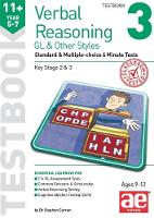 11+ Verbal Reasoning Year 5-7 GL & Other Styles Testbook 3: Standard & Multiple-choice 6 Minute Tests (Paperback)