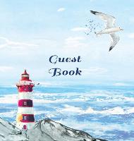 GUEST BOOK FOR VACATION HOME, Visitors Book, Beach House Guest Book, Seaside Retreat Guest Book, Visitor Comments Book.