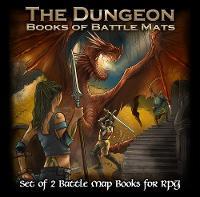 The Dungeon Books of Battle Mats (Spiral bound)