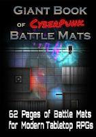 Giant Book of CyberPunk Battle Mats (Paperback)