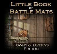 The Little Book of Battle Mats: Town & Taverns Edition (Paperback)