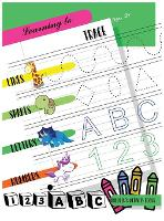 Learning to Trace Lines Shapes Letters Numbers: Activity Book for Children Ages 3+ to Start Drawing Lines, Shapes, Letters and Numbers. Preschool and School Children (Hardback)