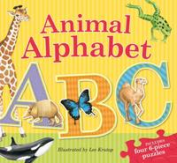 Animal Alphabet Puzzle Book (Hardback)