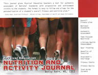 Physical Education Nutrition and Activity Journal (Paperback)