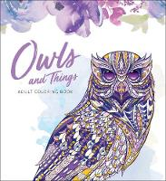 Owls and Things Adult Coloring Book (Paperback)