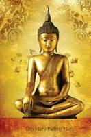 Om Mani Padme Hum: 150-Page Journal with Buddha Image (6 X 9 Inches / Gold / Diary) (Paperback)