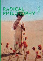 Radical Philosophy 2.03 / December 2018 - 2 03 (Paperback)