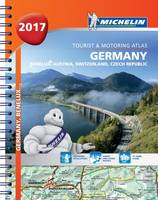 Germany/Austria Atlas 2017 - Michelin Atlas (Spiral bound)