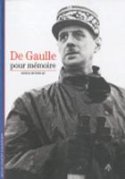 Decouverte Gallimard: De Gaulle, pour memoire (Paperback)
