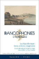 Francophonies d'Amerique 40-41: Les Pays d'en haut : lieux, cultures, imaginaires - Francophonies d'Amerique 40 (Paperback)