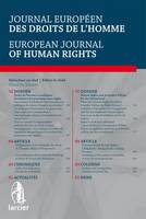 Journal Europeen des Droits de l'Homme / European Journal of Human Rights: 2014 - 5 (Paperback)