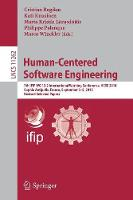 Human-Centered Software Engineering: 7th IFIP WG 13.2 International Working Conference, HCSE 2018, Sophia Antipolis, France, September 3-5, 2018, Revised Selected Papers - Programming and Software Engineering 11262 (Paperback)