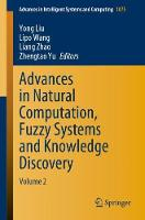 Advances in Natural Computation, Fuzzy Systems and Knowledge Discovery: Volume 2 - Advances in Intelligent Systems and Computing 1075 (Paperback)