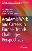 Academic Work and Careers in Europe: Trends, Challenges, Perspectives - The Changing Academy - The Changing Academic Profession in International Comparative Perspective 12 (Hardback)