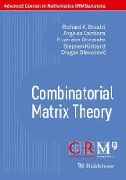 Combinatorial Matrix Theory - Advanced Courses in Mathematics - CRM Barcelona (Paperback)