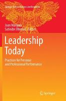 Leadership Today: Practices for Personal and Professional Performance - Springer Texts in Business and Economics (Paperback)
